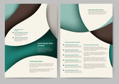 Abstract brochure template — Stock Vector