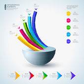 Infographic tasarım öğeleri — Stok Vektör