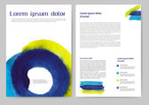Abstract colored brochure — Stock Vector