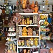 Sri Lankan traditional handcrafted goods for sale in a shop at Pinnawala elephant orphanage, Sri Lanka — Stock Photo #64630075
