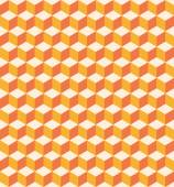 Orange cubes seamless texture — Stock Vector