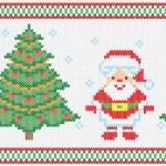 Christmas embroidery vector seamless texture — Stock Vector #59737381