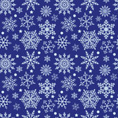 Snowflakes on blue background seamless texture — Stock Vector