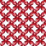 Flower Mesh rubies seamless texture vector — Stock Vector #64957527