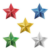 Set of precious stars vector isolated objects — Stock Vector