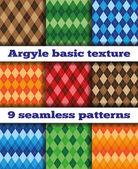 Set Argyle seamless texture vector — Stock Vector