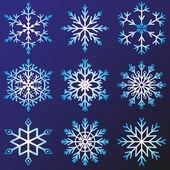Set of snowflakes vector — Stock Vector
