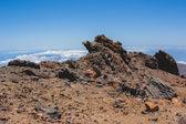 Volcanic lava landscape of Tenerife — Stock Photo