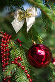 Christmas decoration on branch — Stock Photo