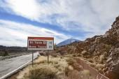 El teide road sign — Foto de Stock