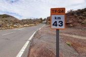 El teide road — Stock Photo