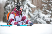 Winter-tourismus-frau — Stockfoto