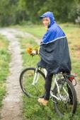 Girl on bike — Stock Photo