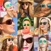 солнцезащитные очки мода женщина — Стоковое фото
