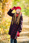 Beautiful woman portrait in autumn garden — Stock Photo