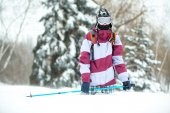 Winter adventurer — Foto de Stock
