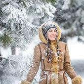Winter fun woman — Stock Photo