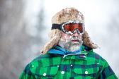 Winter adventurer man — Stock Photo