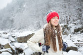 Winter trekking and hiking concept — Stock Photo