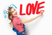 Valentine day woman — Stock Photo