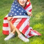 Woman with national usa flag — Stock Photo #69592921