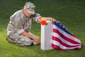 American soldier. Memorial day — Stock Photo