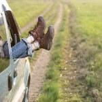 Freedom car travel concept — Stock Photo #74823205