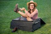 Sexy beautiful travel woman — Stock Photo