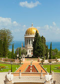 A beautiful picture of the Bahai Gardens in Haifa Israel. — Stock Photo