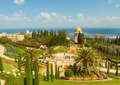 En vacker bild av de bahai trädgårdarna i haifa israel. — Stockfoto