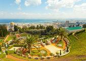 Haifa İsrail bahai bahçelerin güzel bir resim. — Stok fotoğraf