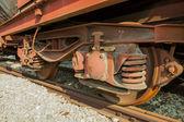 旧机车车轮 — 图库照片