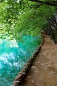 Lake of Plitvice magical ride, Croatia — Stock Photo