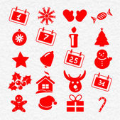 Collection of funny christmas icons — Stock Vector