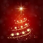 Nice  Christmas tree on the dark background — Stock Vector