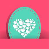 Many pretty white heart for valentines day — Vector de stock