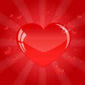 Pretty red heart for valentines day — Stock Vector