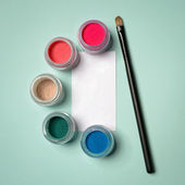 Nice colour pigments for makeup — Stock Photo