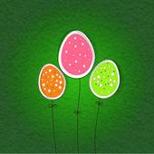 Pěkná vajíčka na velikonoce — Stock vektor