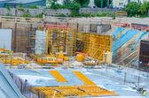 Site view, concrete works — Stock Photo