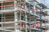 Scaffolding, construction — Stock Photo