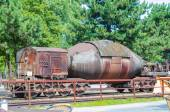 Freight cars, tank cars, torpedo cars, — Stock Photo