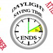 Daylight saving time ends. — Stock Photo #62355235