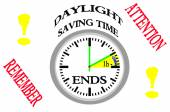 Daylight saving time ends. — Foto Stock