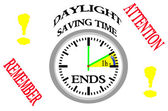 Daylight saving time ends. — Stock Photo