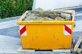 Rubbish Skip, Dumpster construction site — Foto Stock