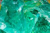 Green quartz stone background, — Stock Photo