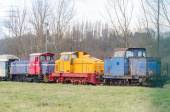 Shunting locomotives. — Stock Photo