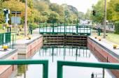 Canal Lock, lock Mülheim — Stock Photo