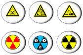 Danger sign on the button. — Stock Photo